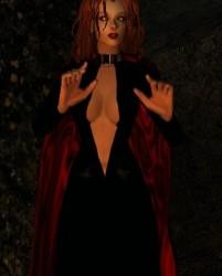 Sexy Black Collar Dress