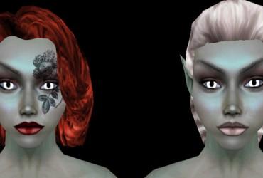 Wide Eyed Dark Elf Females
