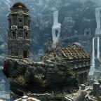 Skyrim: Stadt im Gebirge