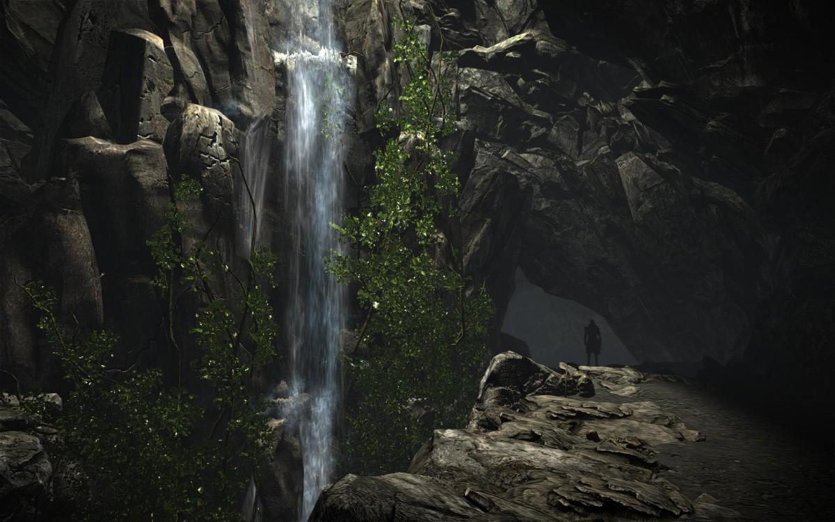 Vannar: Höhlenwasserfall