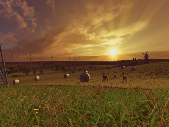 """""""…gelb die Stoppelfelder"""" - an einem Abend im September"""