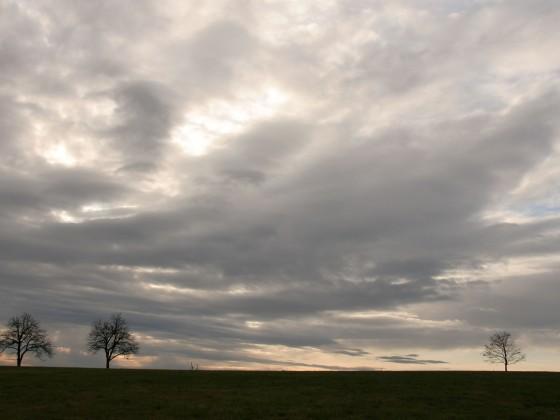 Blaue Stunde auf dem Höchsten im November