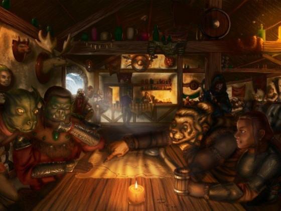 Zusammenkunft in der Taverne