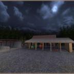 Der neue Hof bei Nacht