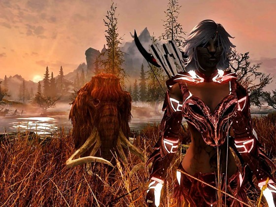 Legethien Queen of Nargoth mit Babymammut