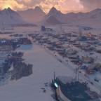 Abenddämmerung in der Polarregion