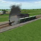 Der erste Güterzug